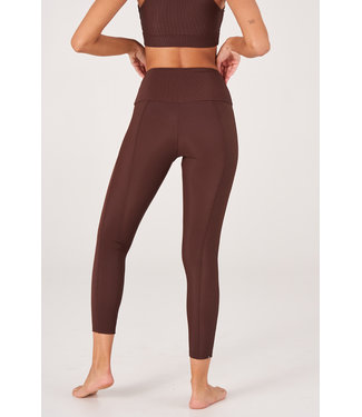 Onzie Sweetheart Yoga Legging - Brown Rib
