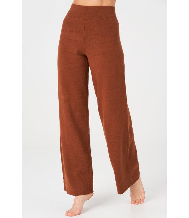 Onzie Wide Leg Lounge Broek - Brown