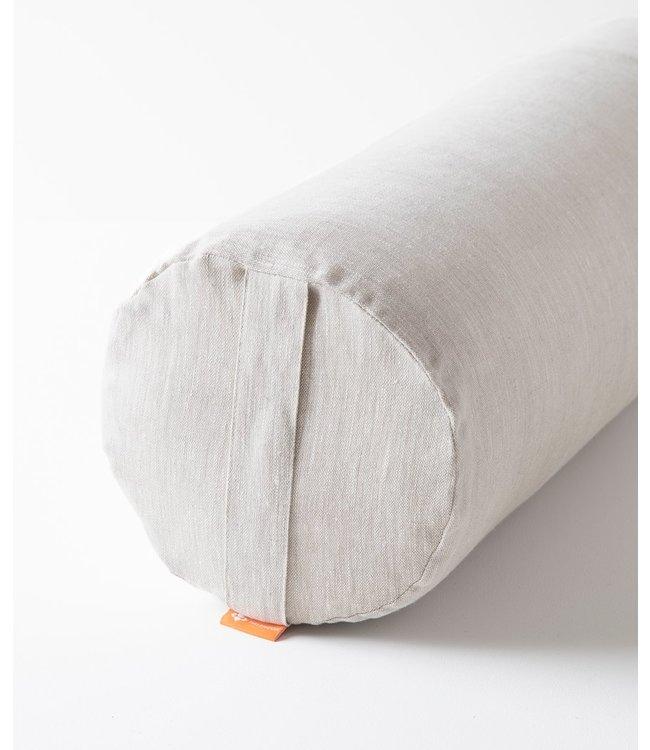 Halfmoon Bolster Premium Linen - Natural Linen