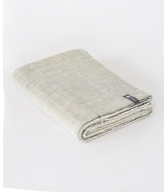 Halfmoon Cotton Yoga Blanket - Evergreen Melange