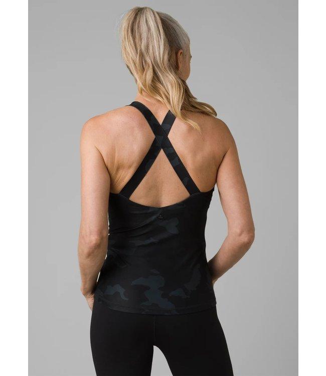 PrAna Layna Yoga Tank Top - Black Camo