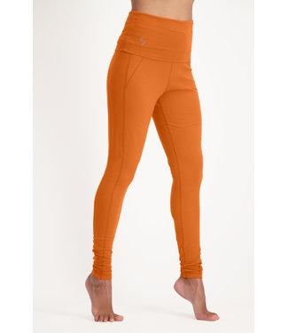 Urban Goddess OM Yoga Leggings - Bombay Brown