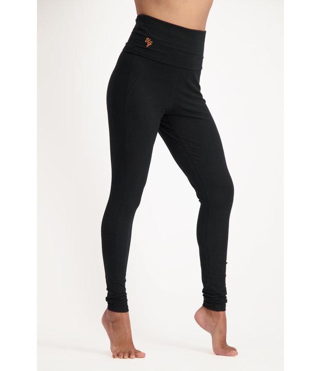 Urban Goddess OM Yoga Leggings - Urban Black