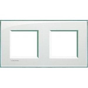Bticino Afdekplaat 2 x 2 modules LivingLight aquamarine