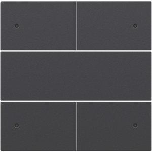 Niko Afwerkingsset voor drukknop 24V +LED met 4 contacten, kleur antraciet / 122-40150