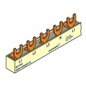 FTG Kamgeleider/aansluitrail 4 polig verdeeld naar 2polig 18 modules - 10mm