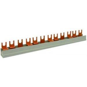 FTG Kamgeleider/aansluitrail 2 polig met vorken 56 modules - 10mm