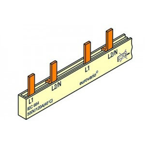 FTG Kamgeleider/aansluitrail 2 polig met pennen 18 modules -10mm