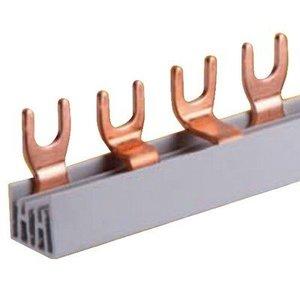 Kamgeleider/aansluitrail 3 polig met vorken 12 modules