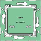 Niko enkelvoudige muurprint met connector voor Nikobus