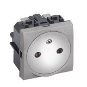 Bticino LL - contactdoos 16A met steekklemmen - aluminium kleur