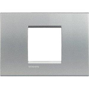 Bticino Afdekplaat 2 modules LivingLight aluminium