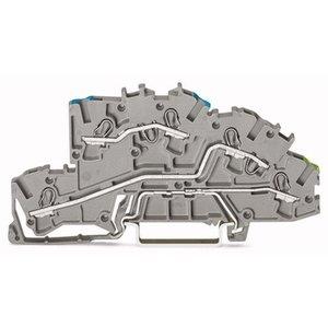 Wago  etageklemmen TOPJOB N/L/PE 0,25-4mm grijs