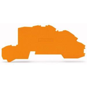 Wago Afsluit- en tussenplaat 0,8 mm dik, oranje voor 2003-7692