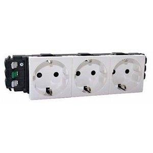 Legrand DLP Schuko stopcontact drievoudig, wit