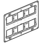 Legrand Mosaic houder voor 2x6, 2x8, 2x3x2 modules met schroeven