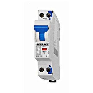 Schrack Automaat compact 1P+N - 2A - 6kA - curve C