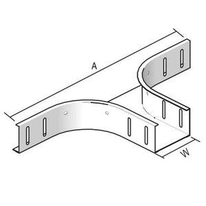 Aftakstuk-stuk kabelbaan 60 x 150 mm