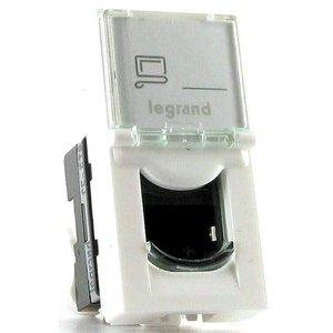 Legrand Mosaic UTP rj45 cat5e netwerk aansluiting wit