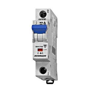 Schrack Beveiligingsautomaat BMS4 kar. C 6A 1P 4,5kA