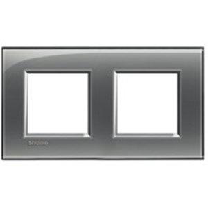 Bticino Afdekplaat 2 x 2 mod LivingLight horizontaal,London Fog