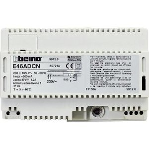 Bticino Voeding voor My Home automatisatiesysteem - 230 V - 300 mA - 1,2 A max./sec.