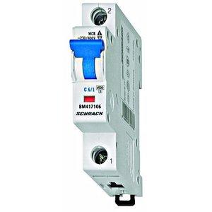 Schrack  Beveiligingsautomaat BMS4 kar. B 6A 1P 4,5kA