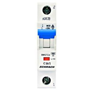 Schrack Beveiligingsautomaat BMS4 kar. C 16A 1P 4,5kA