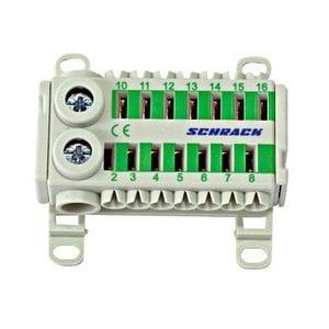 Schrack Easy Connection Box groen 2x25mm²+ 14x4mm²