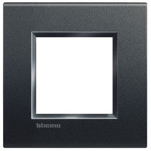 Bticino Afdekplaat 2 modules LivingLight antraciet - LNA4802AR