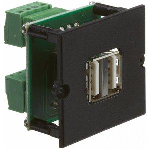 Bachmann dubbele USB koppeling met centraalplaat, schroefverbinding