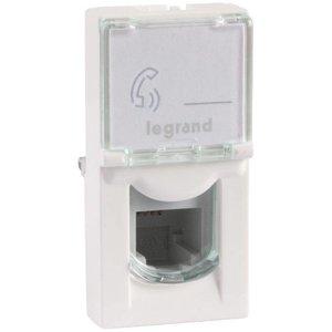 Legrand Mosaic RJ11 telefoonaansluiting aansluiting wit (1module)
