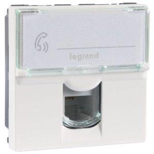 Legrand Mosaic RJ11 telefoonaansluiting aansluiting wit (2 modules)