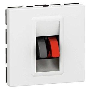 Legrand Mosaic luidspreker aansluiting wit (2 modules)