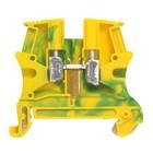 Legrand Schroefklem 1 verbinding 10 mm² (sp 10 mm) - metalen voet, groen/geel