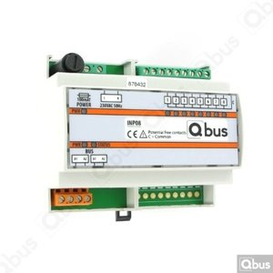QBUS Inputmodule DIN RAIL (8x extern - 0 Volt)