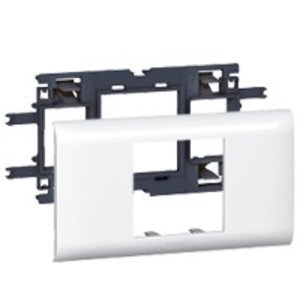 Legrand DLP houder en afdekplaat wit, 2 modules (deksel 65mm)