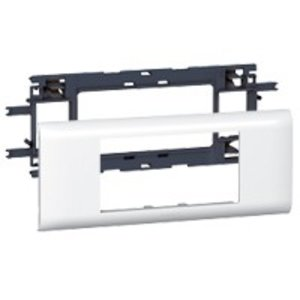Legrand DLP houder en afdekplaat wit, 4 modules (deksel 65mm)
