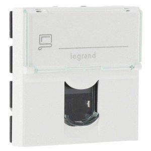 Legrand Mosaic FTP rj45 cat5e netwerk aansluiting wit (2modules)