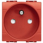 Bticino Living Light stopcontact 2P+A Rood met schroeven L4142AR