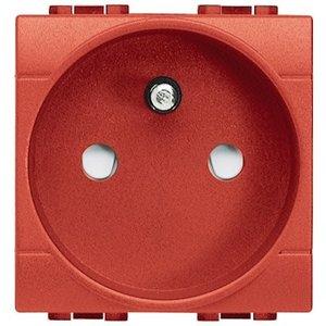Bticino Living Light stopcontact 2P+A Rood met schroeven L4142AR