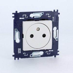 Bticino  LL  vlak stopcontact 10/16A 250V -met schroeven-wit- N4142AFV