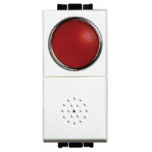 Bticino Drukknop LivingLight  met rode verstrooier - N4038R