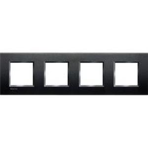 Bticino LivingLight - Afdekplaat 4x2 mod 71mm antraciet -  LNA4802M4AR