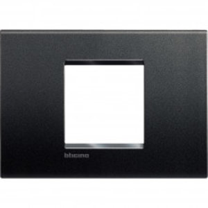 Bticino LivingLight-Afdekplaat  large 2 mod Antraciet - LNA4819AR