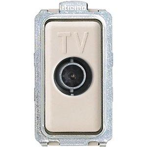 Bticino Magic TV contactdoos coax 1 mod-ivoor - 5202D