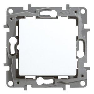 Legrand Niloé Drukknop 6A 250V NO-NF wit met spanklauwen - 664505