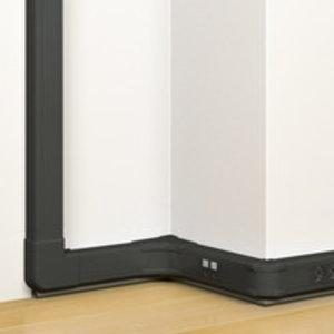 Legrand DLP klik-in Mosaic 50x80 deksel 45mm Zwart - 075750