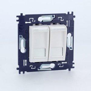 Bticino LL Dubbele contactdoos RJ45 6UTP   met schroeven Wit - N4279C6V2