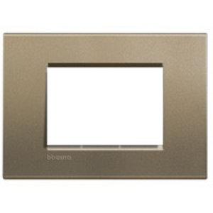 Bticino Rechthoekige afdekplaat 3 modules LL square  LNA4803SQ